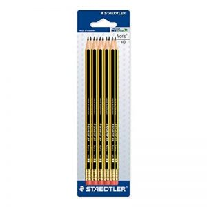 Staedtler 122-2BK10D Pack de 10 Crayons graphite HB embout Gomme de la marque Staedtler image 0 produit