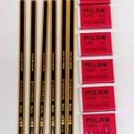 Staedtler 6Lapices 2HB 2et 6élastiques Milan Crème 624 de la marque Staedtler image 1 produit