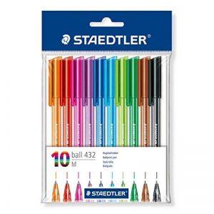 Staedtler Ball 432, Stylo-Bille Triangulaire de Haute Qualité avec Encre Infalsifiable, Pointe 0,45 mm, Lot de 10, 43235MPB10ST de la marque Staedtler image 0 produit