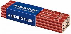 Staedtler Charpentier 148 40, Crayon ovale 2H de haute qualité, Pour l'industrie et l'artisanat, largeur de trait 1 à 2 mm, Lot de 12, 148 40 de la marque Staedtler image 0 produit