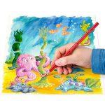 Staedtler crayon de couleur aquarellable Noris Club, norme CE EN71, bois certifié PEFC, formule ABS anti-casse, 24 couleurs assorties plus pinceau en étui carton, 144 10NC24 de la marque Staedtler image 3 produit
