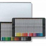 Staedtler crayons de couleur aquarelables karat, haute qualité, miscibilité des couleurs, boîte métal de 48 crayons de couleurs assortis, 125 M48 de la marque Staedtler image 2 produit