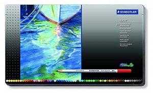 Staedtler crayons de couleur aquarellables karat, haute qualité, miscibilité des couleurs, boîte métal de 60 crayons de couleurs assortis, 125 M60 de la marque Staedtler image 0 produit
