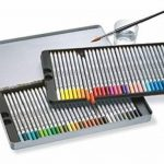 Staedtler crayons de couleur aquarellables karat, haute qualité, miscibilité des couleurs, boîte métal de 60 crayons de couleurs assortis, 125 M60 de la marque Staedtler image 3 produit