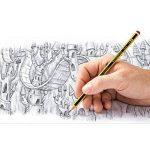 Staedtler crayons graphite HB Noris, pour l'école et le bureau, haute qualité, extrêmement résistant au bris, pack promo de 12 crayons avec gomme Mars plastic mini, 61 120P1 de la marque Staedtler image 3 produit