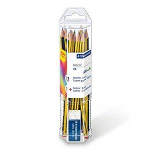 Staedtler crayons graphite HB Noris, pour l'école et le bureau, haute qualité, extrêmement résistant au bris, pack promo de 12 crayons avec gomme Mars plastic mini, 61 120P1 de la marque Staedtler image 0 produit