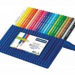 Staedtler Ergosoft 157, Crayon de couleur avec sytème anti-casse, Pour coloriage enfant et adulte, Set de 24 couleurs lumineuses, mine douce 3 mm, 157 SB24 de la marque Staedtler image 1 produit