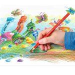 Staedtler Ergosoft 157, Crayon de couleur avec sytème anti-casse, Pour coloriage enfant et adulte, Set de 24 couleurs lumineuses, mine douce 3 mm, 157 SB24 de la marque Staedtler image 4 produit