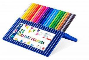 Staedtler Ergosoft 157, Crayon de couleur avec sytème anti-casse, Pour coloriage enfant et adulte, Set de 24 couleurs lumineuses, mine douce 3 mm, 157 SB24 de la marque Staedtler image 0 produit