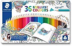 Staedtler Ergosoft 157, Crayon de Couleur avec Sytème Anti-Casse, pour Coloriage Enfant et Adulte, Set de 36 Couleurs Vives, Mine Douce 3 mm, 157 M36JB de la marque Staedtler image 0 produit