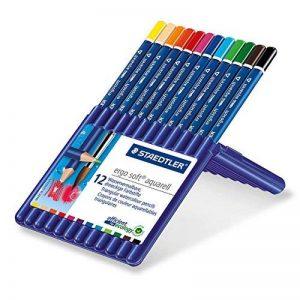 Staedtler - Ergosoft Aquarell 156 - Etui Chevalet Box 12 Crayons de Couleur Triangulaires Aquarellables Assortis de la marque Staedtler image 0 produit