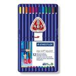 Staedtler - Ergosoft Aquarell 156 - Etui Chevalet Box 12 Crayons de Couleur Triangulaires Aquarellables Assortis de la marque Staedtler image 1 produit