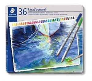 Staedtler - Karat - Boîte Métal 36 Crayons Couleurs Aquarellables Assortis FSC de la marque Staedtler image 0 produit