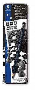 Staedtler - Mars Lumograph Noir 100B - Boîte Métal 6 Crayons Graphite Assortis (8B/6B/4Bx2/2Bx2) de la marque Staedtler image 0 produit