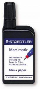 Staedtler - Mars Matic 745 - Flacon d'Encre de Chine Noir 22ml pour Papier, Calque, Polyester Maté de la marque Staedtler image 0 produit