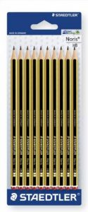 Staedtler Noris 110, crayon graphite extrêmement résistant, Pour l'écriture, le dessin et les croquis, pack de 10 crayons HB 2 mm, 120-2 BK10 de la marque Staedtler image 0 produit