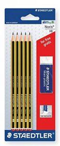 Staedtler - Noris 120 - Blister 5 Crayons Graphite HB + 1 Gomme 526 50 de la marque Staedtler image 0 produit
