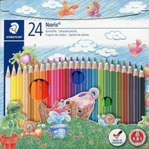 Staedtler Noris 144, Crayon de couleur de haute qualité, Pour coloriage enfant et adulte, Set de 24 couleurs vives, mine douce 3 mm, 144NC24 de la marque Staedtler image 0 produit