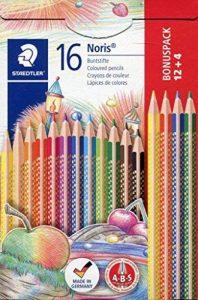 Staedtler Noris Club 127, Crayon de Couleur avec Système Anti Casse, Pour coloriage Enfant, Set de 12 (+ 4 offerts) Couleurs Vives, Mine Douce 3 mm, 127 NC12P1 de la marque Staedtler image 0 produit