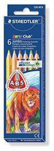 Staedtler - Noris Club 128/1284 - Etui Carton 6 Crayons de Couleur Triangulaires Gros Module Assortis de la marque Staedtler image 0 produit