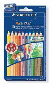 Staedtler - Noris Club 1287 - Etui Carton 10 Crayons de Couleur Gros Module Assortis + 1 Taille-Crayon 510 90 de la marque Staedtler image 0 produit