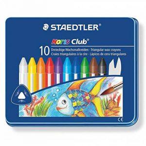 Staedtler - Noris Club 228 - Boîte Métal 10 Craies à la Cire Triangulaires Aquarellables Assorties de la marque Staedtler image 0 produit