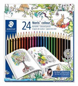 Staedtler Noris Colour 185, Crayon de Couleur avec Mine Ultra Résistante, pour Coloriage enfant, Set de 24 Couleurs Vives, Mine Douce 3 mm, 185 C24JB de la marque Noris image 0 produit
