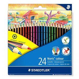 Staedtler - Noris Colour 185 - Etui Carton 24 Crayons de Couleur Wopex Assortis de la marque Staedtler image 0 produit