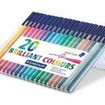 Staedtler Triplus color 323, Feutre de haute qualité, Pour écriture, dessin et coloriage, Set de 20 couleurs lumineuses, pointe moyenne 1 mm, 323 SB20 de la marque Staedtler image 1 produit