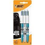 Star Wars BIC 4 Couleurs Shine Stylos-Billes - Corps Métalliques Assortis, Blister de 3 de la marque BIC image 1 produit