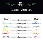 Stationery Island Feutre Textile – Feutre Tissu Permanents Double Pointe 11 Couleurs dans un Pack de 6 de la marque Stationery Island image 2 produit