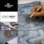 Stationery Island Feutre Textile – Feutre Tissu Permanents Double Pointe 11 Couleurs dans un Pack de 6 de la marque Stationery Island image 3 produit