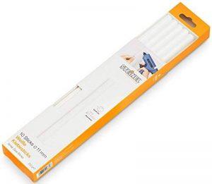 Steinel Bâtons de colle chaude blanche - diam. 11mm - stylo á colle chaude - cartouches á colle chaude blancs d'une longueur de 250 mm - colle spéciale pour le collage des matériaux claires - 250 g -10 bâtons - 006808 de la marque STEiNEL image 0 produit