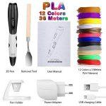 Stylo 3D avec Écran LCD, Fede Stylo d'Impression 3D avec 12*3M Fils multicolores Filament PLA de 1.75 mm (36 Mètres au total), cadeau idéal pour enfants, adultes de la marque Fede image 1 produit