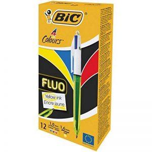 stylo bic jaune TOP 4 image 0 produit