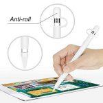 Stylo de Silicone Souple Étui Case Cover pour Apple Pencil - Housse en Silicone pour iPad Pro Stylo - Protection Prise de Courant (Blanc) de la marque Hydream image 1 produit