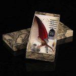 Stylo Dip à Plume Plume d'Oie 0.5mm Stylo-pinceau avec Plume d'Oie Taillée Stylo Meilleur Cadeau Exécutif Antique (Bouteille d'encre vide) (Red) de la marque Walfront image 1 produit