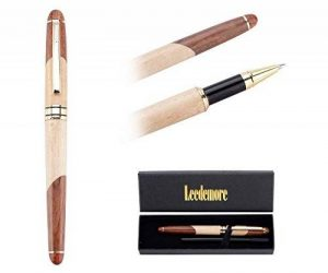 Stylo en bois , bille Roller Premium Plumes Luxe avec Pointe Fine- Leedemore de la marque Leedemore image 0 produit