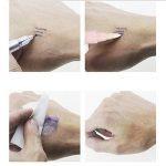 Stylo marqueur de peau de stylo de tatouage, 3 Set Double Ended Violet-Bleu Encre pour Tatouage Piercing Semi-permanent Tatouage de maquillage Inclure Accessoire Règle Marker Remover Pen de la marque Essort image 2 produit