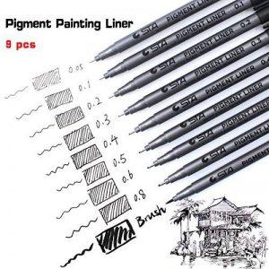 stylo noir pour dessin TOP 8 image 0 produit