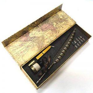 Stylo-plume Antique à tige en cuivre et embout métallique- PA-14 de la marque Hethrone image 0 produit