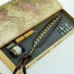Stylo-plume Antique à tige en cuivre et embout métallique- PA-14 de la marque Hethrone image 1 produit