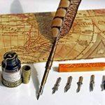 Stylo-plume Antique à tige en cuivre et embout métallique- PA-14 de la marque Hethrone image 3 produit