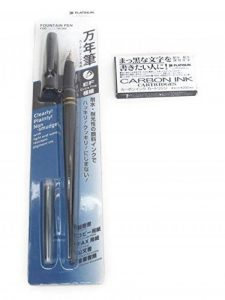 Stylo plume Platinum Carbone Desk, et cartouche d'encre Paquet de 4 noir de la marque Platinum image 0 produit
