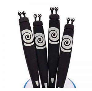 Stylos à bille roulante de 4 PCS, stylo noir de 0.5 millimètres, légumes mignons de simulation/bande dessinée, B8 de la marque Black Temptation image 0 produit