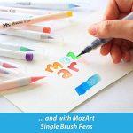 Stylos pinceaux à eau - Set de 4 pointes pinceaux – parfaits pour utilisation avec des peintures aquarelle, des crayons, des stylos pinceaux, des marqueurs solubles à l'eau – Se mélange à l'eau – pratique – Aqua Pen – MozArt Supplies de la marque MozArt S image 5 produit
