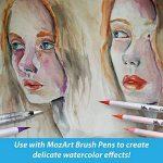 Stylos pinceaux à eau - Set de 4 pointes pinceaux – parfaits pour utilisation avec des peintures aquarelle, des crayons, des stylos pinceaux, des marqueurs solubles à l'eau – Se mélange à l'eau – pratique – Aqua Pen – MozArt Supplies de la marque MozArt S image 6 produit