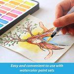 Stylos pinceaux à eau - Set de 6 pointes pinceaux – parfaits pour utilisation avec des peintures aquarelle, des crayons, des stylos pinceaux, des marqueurs solubles à l'eau – Se mélange à l'eau – pratique – Aqua Pen – MozArt Supplies de la marque MozArt S image 1 produit