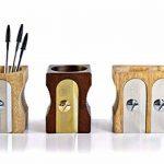 SUCK UK Pot à crayons design Taille-crayons géant Beige et chrome Bois et métal acier inoxydable de la marque Suck image 4 produit