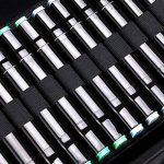 Sumnacon 120 trous Trousse de Feutre / Marqueur/surligneur (15mm~22mm), Sac de Feutre ou Surligneur, Robuste , Pratique avec Sangle d' épaule et de main 34,5cm*16cm*17cm(L*I*H) (noir)(pas marqueur) de la marque Sumnacon image 4 produit